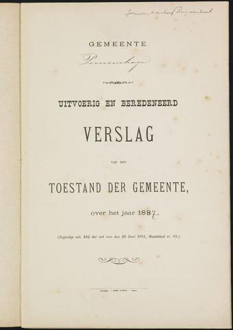 Princenhage - Verslagen van de toestand van de gemeente 1887