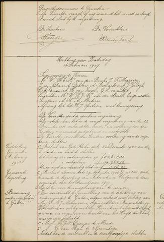 Ginneken en Bavel - Notulen van de gemeenteraad 1907-01-01