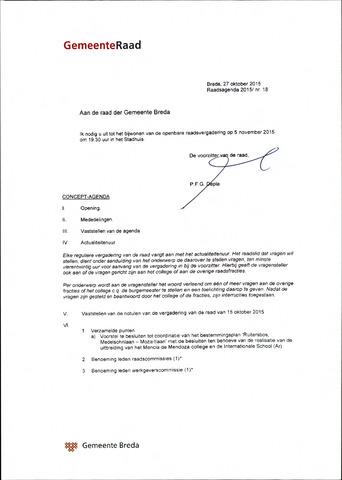 Breda - Bijlagen bij de notulen van de gemeenteraad 2015-11-05