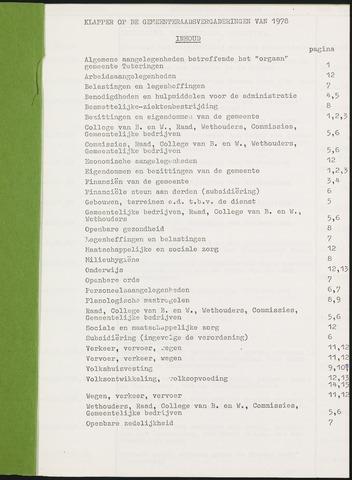 Teteringen - Indexen op de notulen van de gemeenteraad 1978-01-01