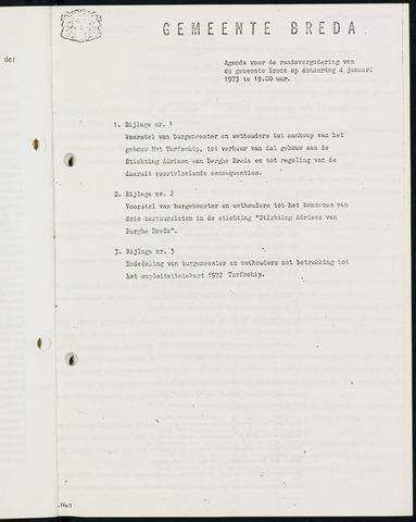 Breda - Bijlagen bij de notulen van de gemeenteraad 1973