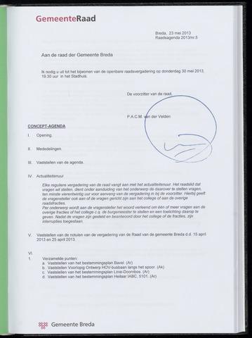 Breda - Bijlagen bij de notulen van de gemeenteraad 2013-05-30
