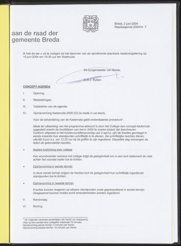 Breda - Bijlagen bij de notulen van de gemeenteraad 2004-06-02