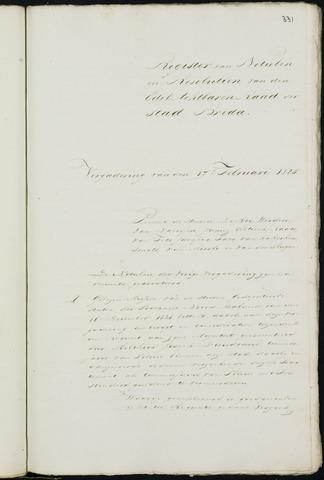 Breda - Notulen van de gemeenteraad 1825
