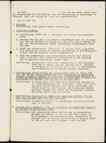 Nieuw-Ginneken - Notulen en bijlagen van de gemeenteraad 1946