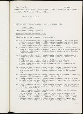 Nieuw-Ginneken - Notulen en bijlagen van de gemeenteraad 1966
