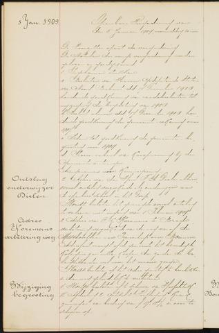 Princenhage - Notulen van de gemeenteraad 1909-01-01