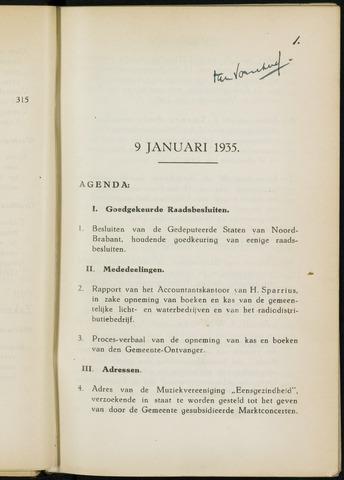 Breda - Notulen van de gemeenteraad 1935-01-01