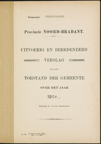 Princenhage - Verslagen van de toestand van de gemeente 1924
