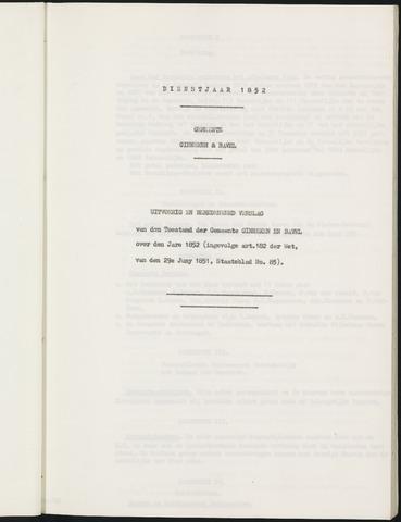 Ginneken en Bavel - Verslagen van de toestand van de gemeente 1852-01-01