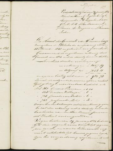 Princenhage - Notulen van de gemeenteraad 1833-01-01