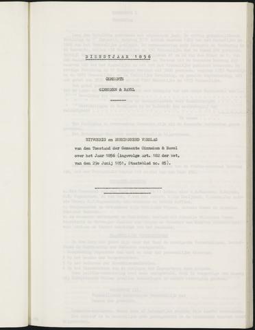 Ginneken en Bavel - Verslagen van de toestand van de gemeente 1856