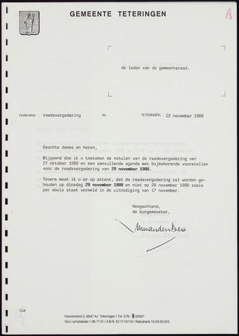 Teteringen - Notulen en bijlagen van de gemeenteraad 1988-11-24