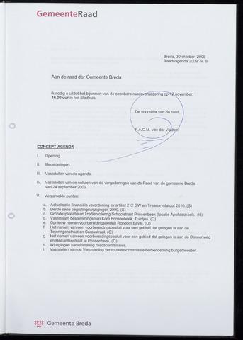 Breda - Bijlagen bij de notulen van de gemeenteraad 2009-11-12
