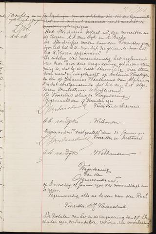 Teteringen - Notulen en bijlagen van de gemeenteraad 1901