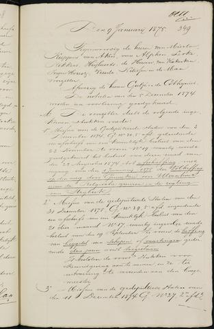 Breda - Notulen van de gemeenteraad 1875-01-01