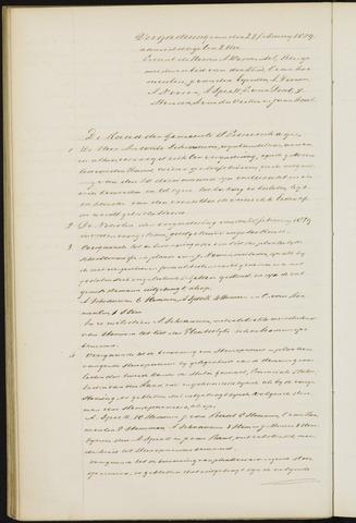 Princenhage - Notulen van de gemeenteraad 1879
