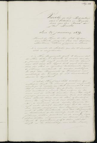 Breda - Notulen van de gemeenteraad 1839-01-01