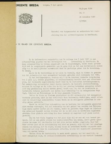 Breda - Bijlagen bij de notulen van de gemeenteraad 1958-01-01