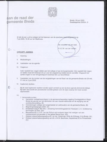 Breda - Bijlagen bij de notulen van de gemeenteraad 2005-06-29