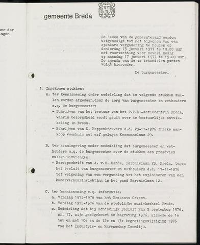 Breda - Bijlagen bij de notulen van de gemeenteraad 1977