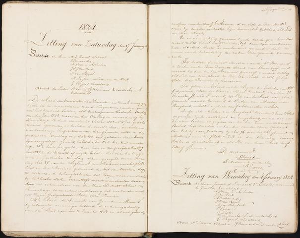 Ginneken en Bavel - Notulen van de gemeenteraad 1824-01-01