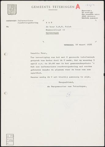 Teteringen - Notulen en bijlagen van de gemeenteraad 1976-04-05