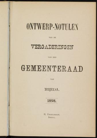 Breda - Notulen van de gemeenteraad 1898