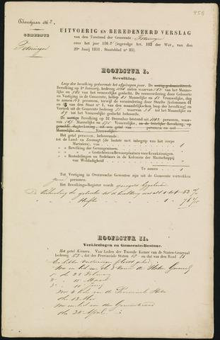 Teteringen - Verslagen van de toestand van de gemeente 1862-01-01