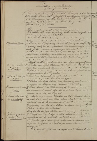 Ginneken en Bavel - Notulen van de gemeenteraad 1891-01-01