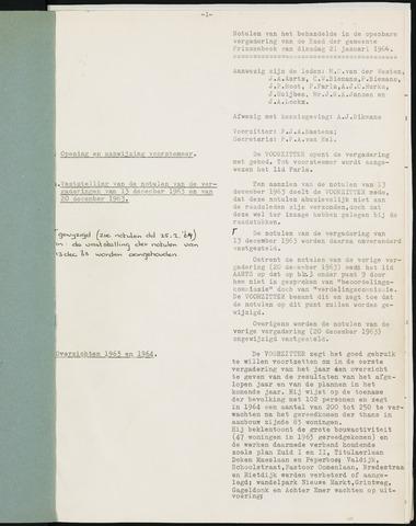 Prinsenbeek - Notulen van de gemeenteraad 1964