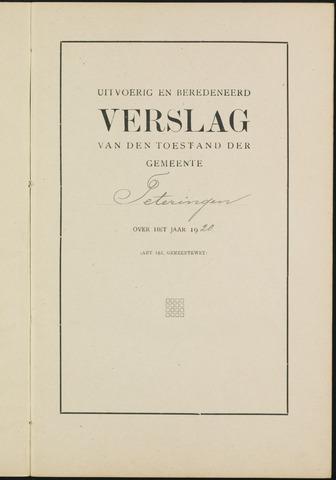 Teteringen - Verslagen van de toestand van de gemeente 1920