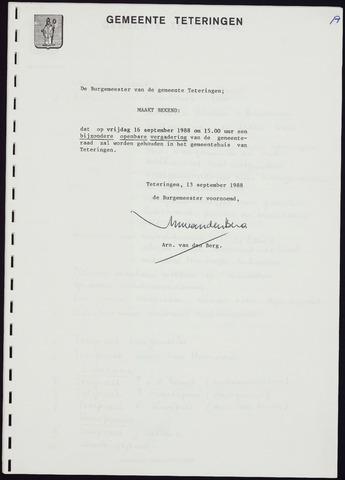 Teteringen - Notulen en bijlagen van de gemeenteraad 1988-09-16