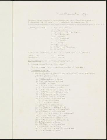 Prinsenbeek - Notulen van de gemeenteraad 1973