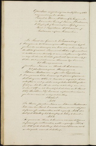 Princenhage - Notulen van de gemeenteraad 1862