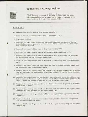 Nieuw-Ginneken - Notulen en bijlagen van de gemeenteraad 1975