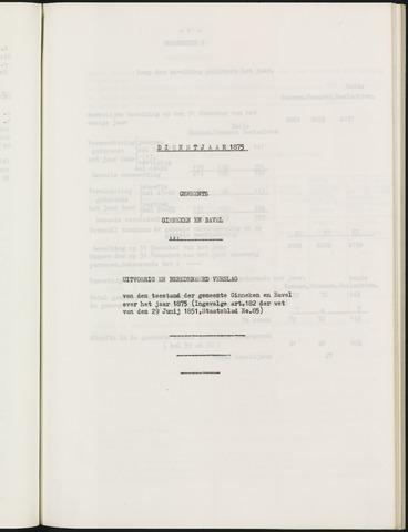 Ginneken en Bavel - Verslagen van de toestand van de gemeente 1875