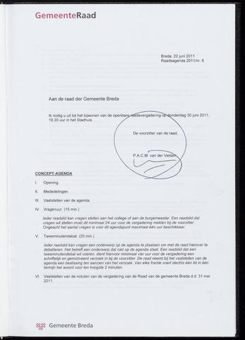 Breda - Bijlagen bij de notulen van de gemeenteraad 2011-06-30