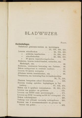 Breda - Indexen op de notulen van de gemeenteraad 1895-01-01