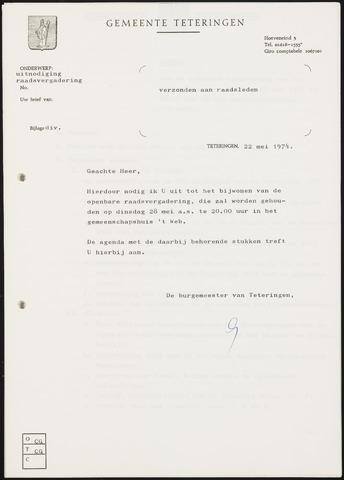 Teteringen - Notulen en bijlagen van de gemeenteraad 1974-05-28