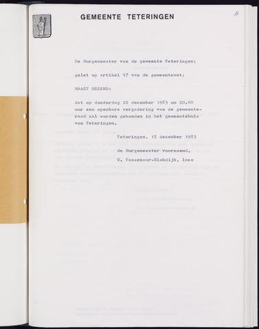Teteringen - Notulen en bijlagen van de gemeenteraad 1983-12-22
