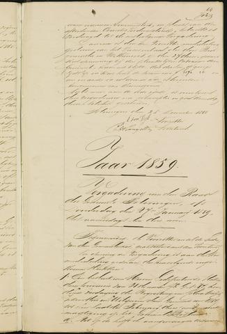 Teteringen - Notulen en bijlagen van de gemeenteraad 1859
