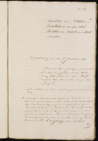 Breda - Notulen van de gemeenteraad 1818