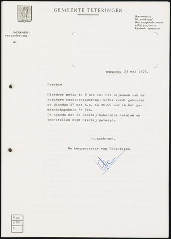 Teteringen - Notulen en bijlagen van de gemeenteraad 1975-05-27