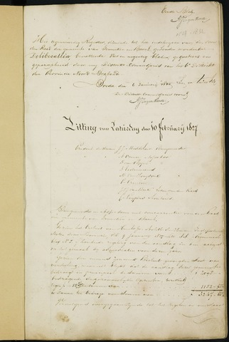 Ginneken en Bavel - Notulen van de gemeenteraad 1827-01-01