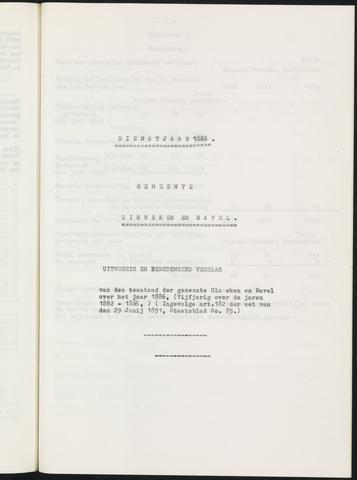 Ginneken en Bavel - Verslagen van de toestand van de gemeente 1886