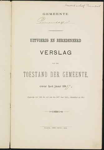 Princenhage - Verslagen van de toestand van de gemeente 1897