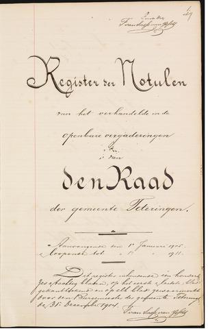 Teteringen - Notulen en bijlagen van de gemeenteraad 1905