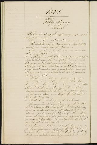 Teteringen - Notulen en bijlagen van de gemeenteraad 1871
