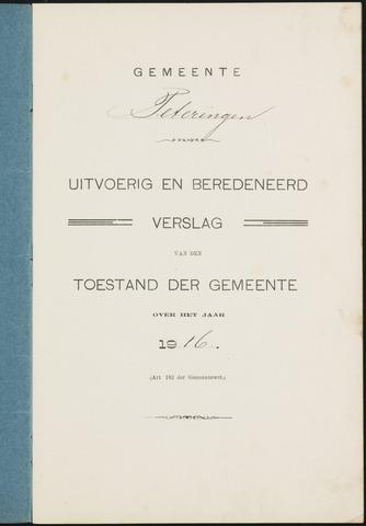 Teteringen - Verslagen van de toestand van de gemeente 1916
